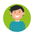 smiling man icon vector image