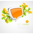 Speech bubble swirling pattern vector image