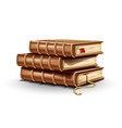 stack pile paper books vector image