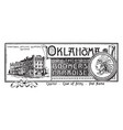 state banner of oklahoma the boomers paradise vector image
