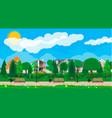 suburb park concept vector image