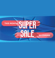 super sale for web app banner vector image vector image