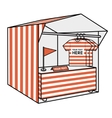 tent for trade the red stripes vector image vector image