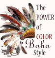 tribal design in boho style headdress vector image vector image