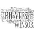 winsor pilates text word cloud concept vector image vector image
