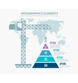 Pyramid chart options construction infographics vector image