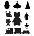 icon of toys and accessories black silhouette vector image