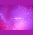 abstract polygonal purple background with vector image vector image