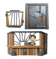 Banker of work in bank and private safe vector image