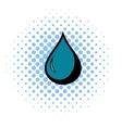 Black drop icon comics style vector image vector image
