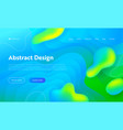 blue abstract wave drop shape landing page vector image