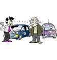 cartoon a old man who is interested in a brand vector image vector image