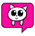 cartoon kitten chat icon vector image
