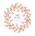 cherry blossom floral wreath vector image
