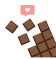 chocolate bar isolated flat design vector image vector image