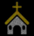 christian church halftone icon vector image vector image