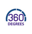 circle 360 degrees logo concept design symbol vector image vector image