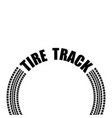 circle tire track text vector image vector image