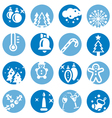 color christmas icons set vector image vector image