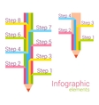 Colored pencil with some note infographic elements vector image vector image