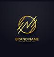 creative letter n premium logo design vector image vector image