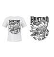 crocodile or alligator hunt t-shirt print vector image vector image