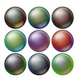 dark sphere set opaque spheres with vector image vector image