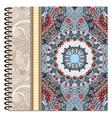 design of spiral ornamental notebook cover vector image