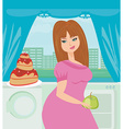 Diet eating temptation vector image