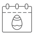 easter calendar thin line icon date and easter vector image vector image