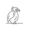 emperor penguin line icon concept emperor penguin vector image vector image