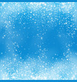 falling snow on blue background snowflake vector image vector image