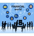 Financial business world concept composition vector image