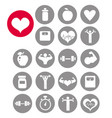 fitness icons vector image vector image