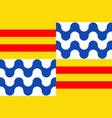 flag of badalona in barcelona of spain vector image vector image