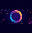 frame glowing circle and rainbow geometric vector image vector image