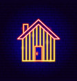 garden house neon sign vector image