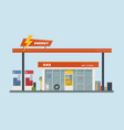 gas station cartoon flat vector image vector image