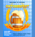 german oktoberfest concept banner cartoon style vector image