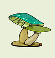 green color mushroom vector image vector image