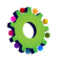 green gear setting icon vector image