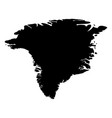 greenland - solid black silhouette map of country vector image vector image