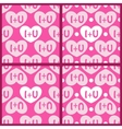 I plus you patterns vector image vector image