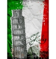 leaning tower pisa and colosseum on a vector image