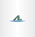 letter a and l logotype logo icon symbol vector image