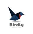 logo bird low poly gradient style vector image