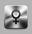 Metallic buton vector image