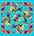mexican talavera ceramic tile pattern with fishes vector image vector image