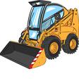 mini excavator a vector image vector image