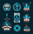 music studio production labels musical vector image vector image